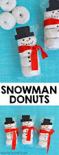 snowman donuts kids snack idea classroom snacks donuts and snowman