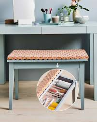reupholstered bench with built in storage martha stewart