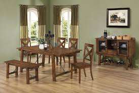100 dining room table with chairs and bench signature
