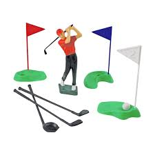 Golf Flags Pme Golf Set Cake Topper Decoration Golfer Player Holes Greens