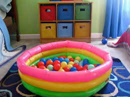 Kid pool ball pit sounds fun for a two to three year old