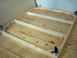 How To Build A Wood Platform Bed Frame by How To Make A Platform Bed On The Cheap Apartment Therapy