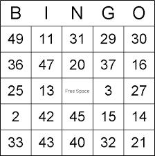 blank christmas bingo cards