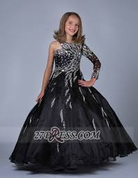 glamorous jewel floor length pageant dress ball gown with