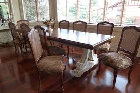 french provincial style dining table with parquetry top timeless