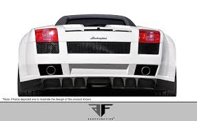 lamborghini back 04 08 lamborghini gallardo af 1 aero function rear wide body kit
