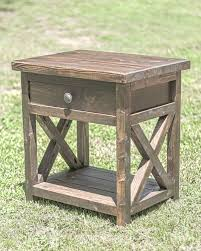 How To Make A Wooden Bedside Table by Best 10 Rustic Nightstand Ideas On Pinterest Diy Nightstand