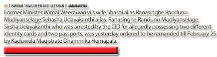 Weerawansa Remanded Shashi Remanded Mirrorcitizen Lk