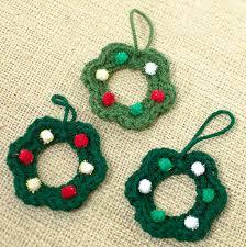 diy wreath ornament easy free crochet pattern