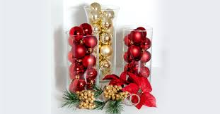 deck your halls with ornament filled glass vases the dollar tree