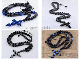 diy rosary diy manual clay bead braid rosary cross pendant necklace