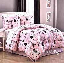 tween bedding sets for girls chic tower french poodle teen girls
