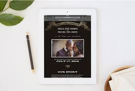 wedding help wedding websites by minted help you coordinate from mailbox to