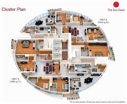 Luxury Floorplans by Luxury Apartments Plan And Five Bedroom Penthouse Floor Plan