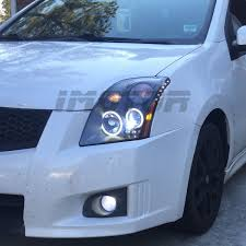 nissan sentra light blue dual ccfl halo for 2007 2008 2009 nissan sentra led projector