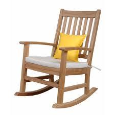 Teak Patio Furniture by Anderson Teak Palm Beach 2 Person Teak Patio Rocking Chair Set