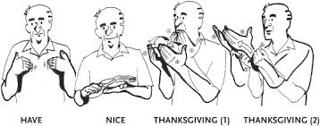 asl thanksgiving asl sign language language and
