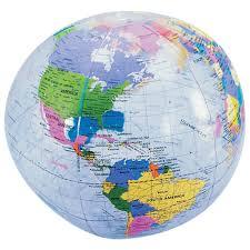 World Globe Map Amazon Com Earth Globe Beach Balls 6 Cnt Toys U0026 Games