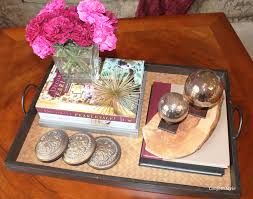 the anatomy of styling a coffee table tray confettistyle