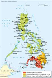 map of us vacation spots philippines travel advice gov uk