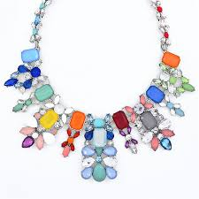 multi color necklace images Alamere bib multicolor crystal statement necklace by shamelessly jpg