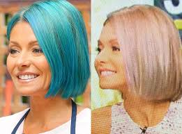 hair color kelly ripa uses kelly ripa ditches blue hair for opal locks after just 1 week take