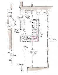 plan kitchen design layout floor archicad cad autocad drawing plan