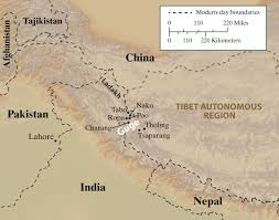 Map Of Nepal And Tibet by Submerged In The Cosmic Kingdom By David Shulman Nyr Daily