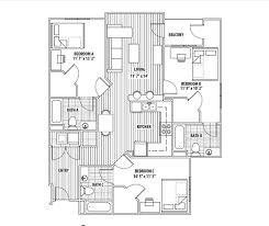 three bedroom ground floor plan the pavilion at north grounds three bedroom apartments uva