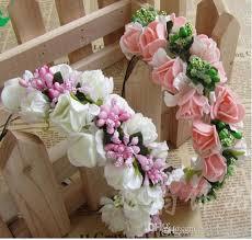 floral garland 2018 summer colorful wedding garland bohemian headbands with