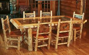 Unfinished Dining Room Tables Furniture Unfinished Wooden Log Furniture Lounge Chair Ideas