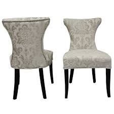 outstanding sure fit stretch jacquard damask dining room chair