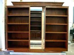 Sliding Bookcase Murphy Bed Bookcase Murphy Library Bed With Swinging Bookcases Hinged