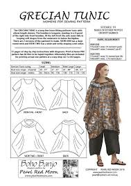 pattern art pdf grecian tunic pdf sewing pattern boho banjo art to wear