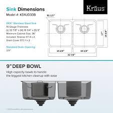 Kitchen Sink Capacity by Stainless Steel Kitchen Sink Kraususa Com