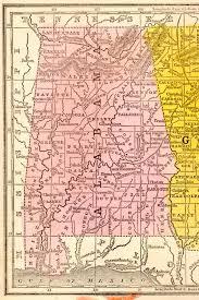 State Of Alabama Map by 1851 Alabama State Map
