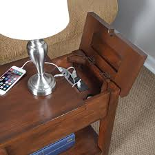 side table with power outlet pacifica side table with charging station http cielobautista com