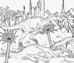 jurassic park coloring pages coloringsuite