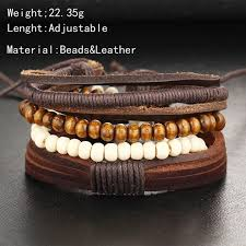 leather bracelet styles images Set of leather bracelets for men 5 styles to choose from qatalyst jpg