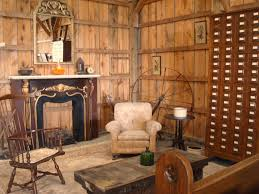 appealing reclaimed wooden wall rustic living room with old