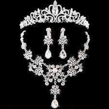 tiaras for sale hot sale noble bridal jewelry sets hotsale silver fashion