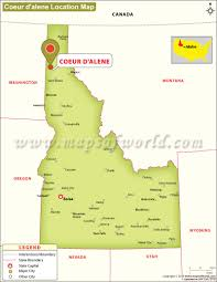 Idaho Counties Map Where Is Coeur D U0027alene Located In Idaho Usa