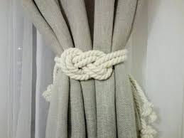 Rope Tiebacks For Curtains Tiebacks For Curtains Curtain Tie Backs Curtain Rods Hardware The