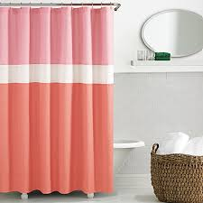 Shower Curtains Bed Bath And Beyond Kate Spade Spring Street Shower Curtain In Coral Bed Bath U0026 Beyond