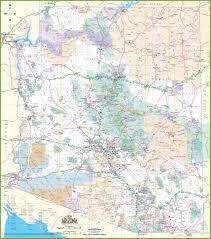 Arizona Road Map Detailed Road Map Of Arizona With Cities New Gongsa Me