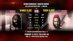 bellator 149 kimbo slice vs dada 5000 you got baby nutz