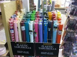 table cloth rolls table idea