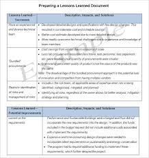 lessons learned report template lesson learned template 4 free word excel pdf documents