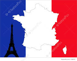 Image Of French Flag Map Of France Background Stock Illustration I1389772 At Featurepics