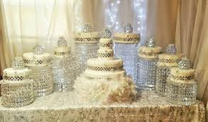 Party Chandelier Decoration by Sparkling Crystal Clear Garland Chandelier Wedding Cake Stand